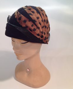 Jersey cooked cloche with applications and crinoline - side/front view