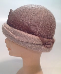 jersey cooked cloche with applications and crinoline - side view