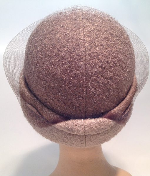 jersey cooked cloche with applications and crinoline - rear view