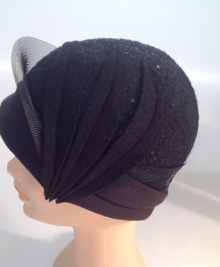 jersey cooked cloche with micro sequins, applications and crinoline - side view