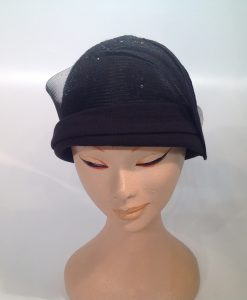 jersey cooked cloche with micro sequins, applications and crinoline - frontal view