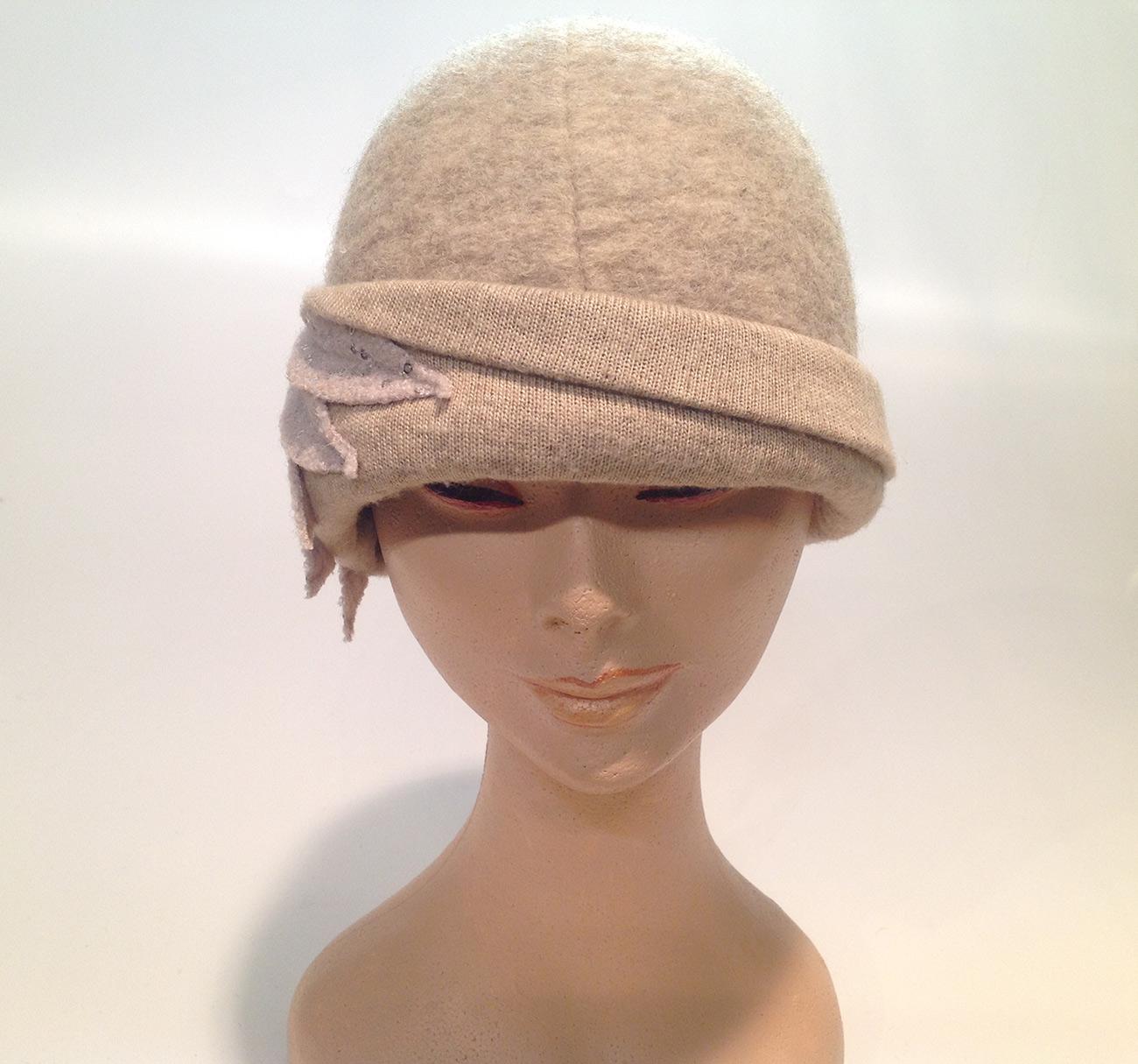 e40895e6df4 Boiled Wool Cloche with Applications - Atelier Alberto Lusona ...