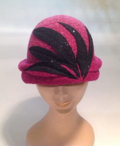 Jersey Cooked Cloche with Applications and Micro-Sequins